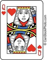 stilizzato, regina cuori