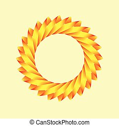 stilizzato, sole, logotipo