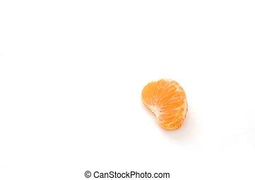 Still Life-17-0006 - Mandarin orange segment isolated on a ...