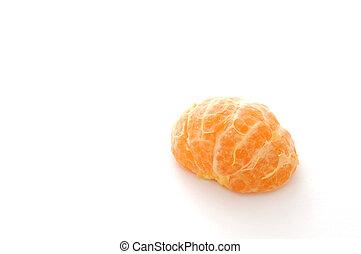 Still Life-17-0008 - Half of a peeled mandarin orange ...