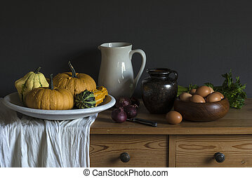 Still life based on a painting by an old master painter