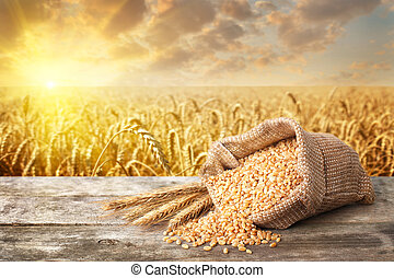 still life bulgur wheat