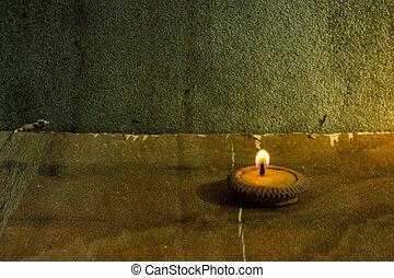 Still life - Candle in Loi Krathong Festival