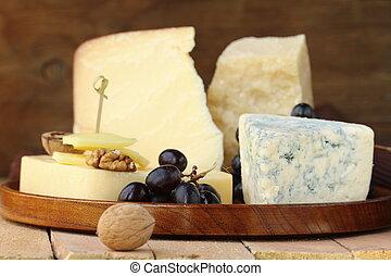 Still-life cheese platter