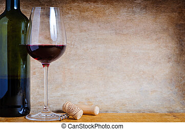 red wine - Still life composition with red wine