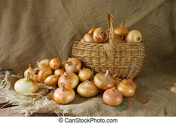 onion in basket