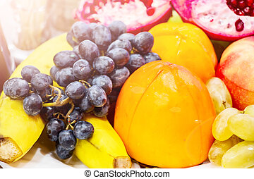 Fruit in a plate on the table