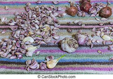 Still life Garlic And Shallots
