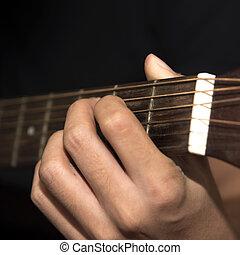 still life man playing guitar