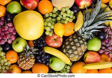still life multifruit - still life of big heap...