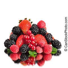 still life multifruit - still life of heap multi-coloured...