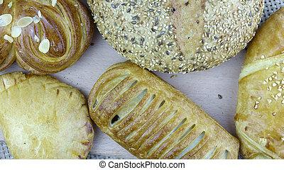 Still life of bread baking