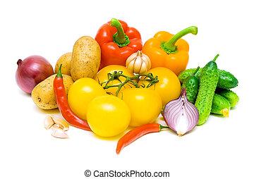 still life of fresh vegetables