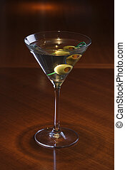 Still life of martini. - Still life of martini on bar.