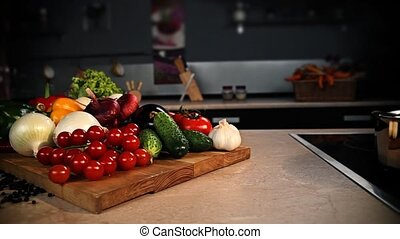 Still life of vegetables in the kit