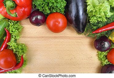 Still life of vegetables.
