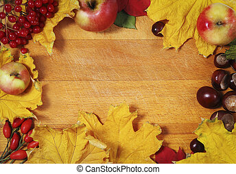 Still life over wooden background