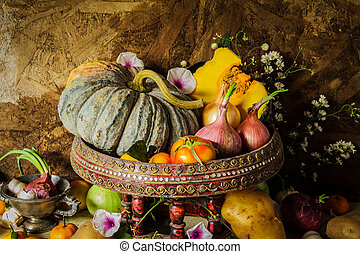 Still Life Photography with Spices and herbs.