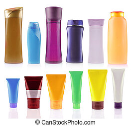 still life portrait of a group of product packaging. ...