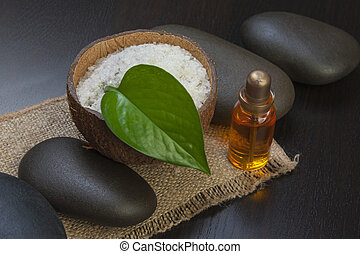 still-life subjects of relaxing spa treatments