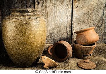Still life the pottery