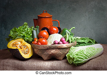 Still life vegetables