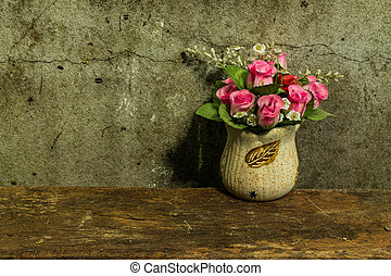 Still life with a bunch of flower