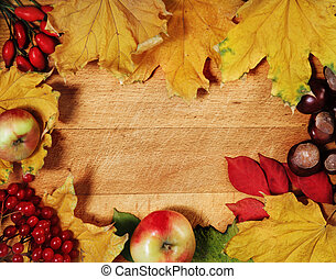 Still life with autumn leaves