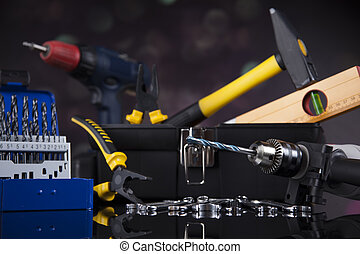 Still life with constructor tools
