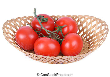 Still life with Fresh tomatoes
