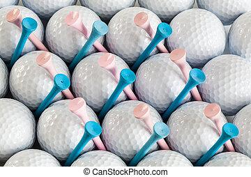 Still-life with golf balls