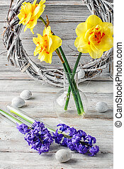 Still life with hyacinths