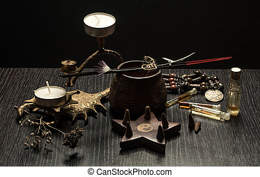 Still life with magic objects,