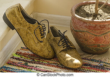 Still life with man shoes