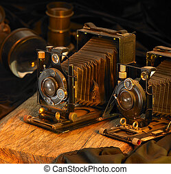 still life with nostalgic cameras - Still life with two...