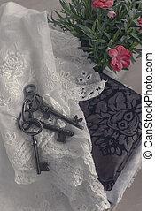 Still life with old keys
