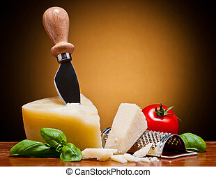 parmesan italian cheese - still life with parmesan italian...
