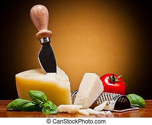 parmesan italian cheese - still life with parmesan italian ...