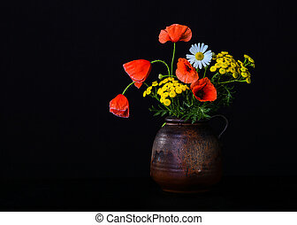 Still life with poppies
