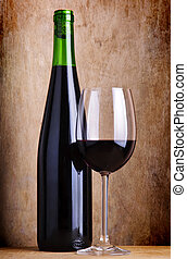 still life with red wine - still life composition with glass...