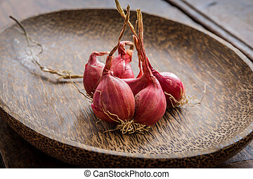 Still Life With Shallots, red onions