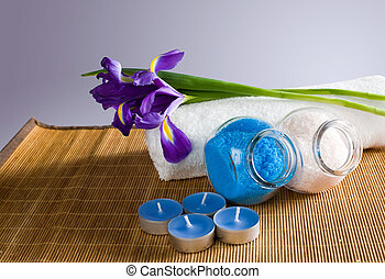 Still life with spa accessories