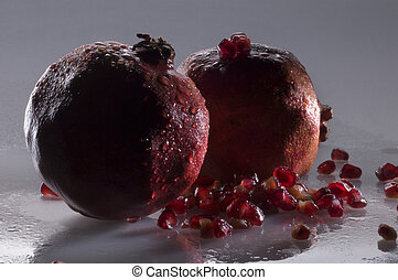 two pomegranates