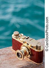 Still life with vintage camera