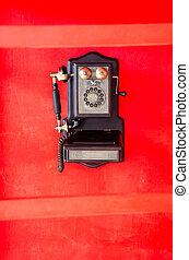 still life with vintage phone