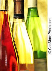 Still-life with wine bottles
