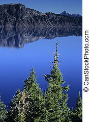 Still water at Crater Lake National Park