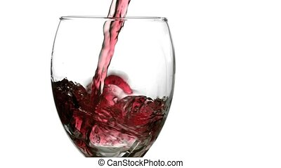Still wine splash filmed at 1,000 frame per second