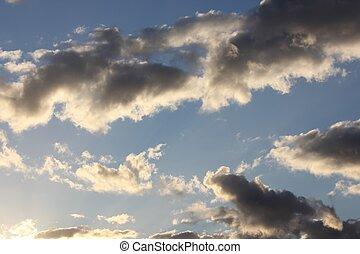 stilla, skyn, kors, den, sky