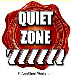 stille , zone, meldingsbord